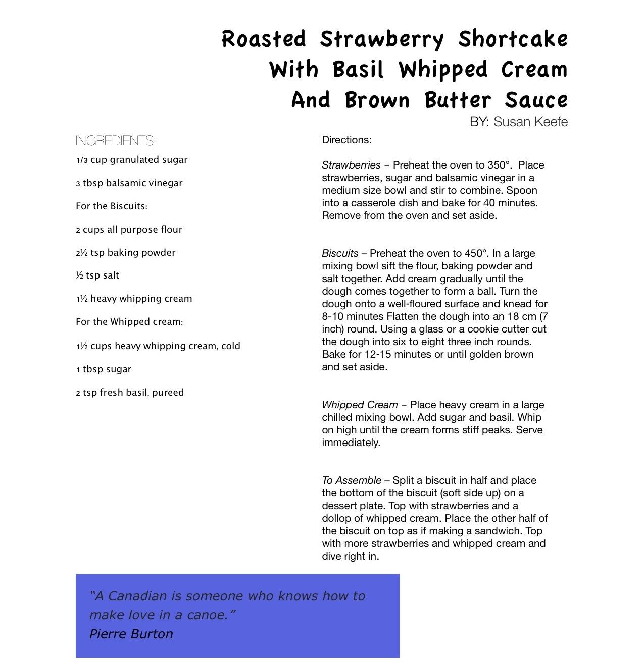 Roasted Strawberry Shortcake with Basil Whipped Cream